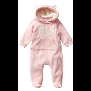 Baby Gap Girls Logo Sherpa Bear One Piece